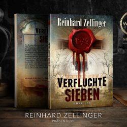 The book Verfluchte Sieben by Reinhard Zellinger, created by MaryDes Designs.