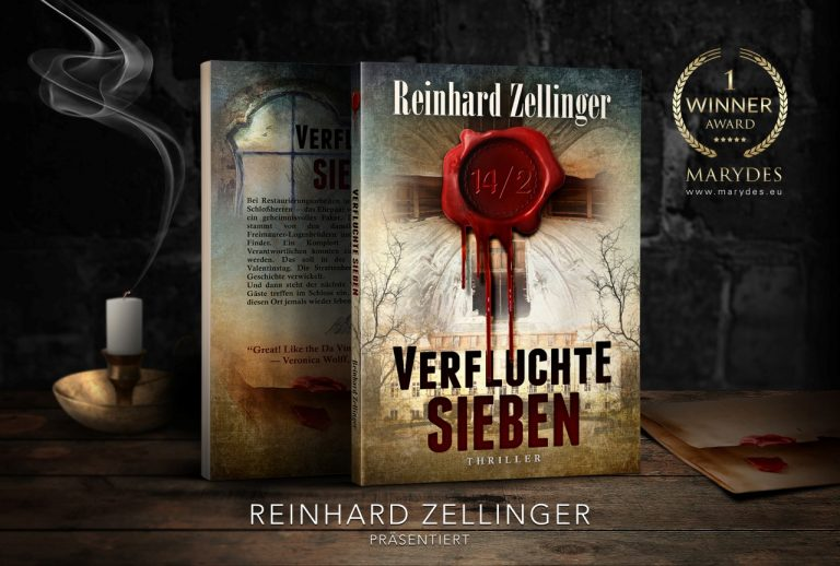 The book Verfluchte Sieben by Reinhard Zellinger, created by MaryDes Designs.