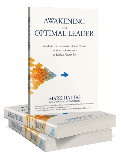 Book cover design for Mark Hattas's book Awakening the optimal leader created by MaryDes.