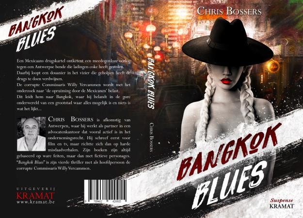 Volledig Boekomslag Bangkok Blues van Chris Bossers, ontworpen door MaryDes Designs.