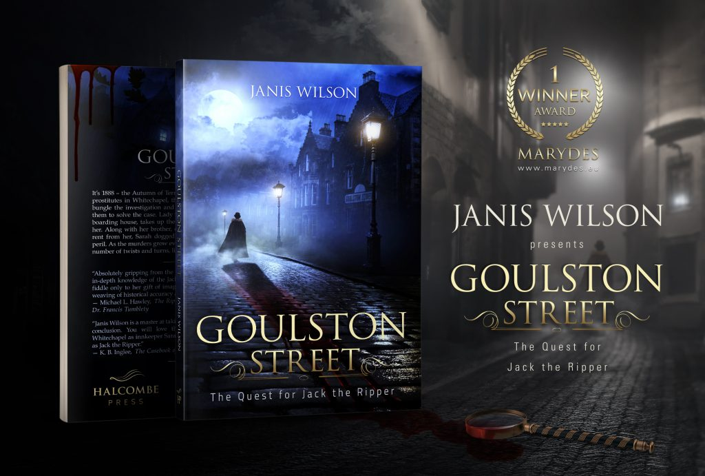The book Goulston Street by Janis Wilson. Design by MaryDes Designs.