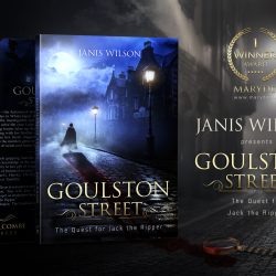 The book Goulston Street by Janis Wilson. Design by MaryDes Designs